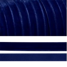 Лента бархатная 20 мм TBY LB2052 цвет т-синий 1 метр