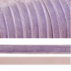 Лента бархатная 20 мм TBY LB2073 цвет сиреневый 1 метр