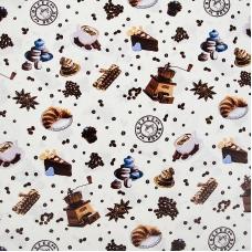 Ткань на отрез вафельное полотно набивное 150 см 5465/1