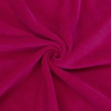 Ткань на отрез велюр цвет фуксия