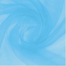 Ткань на отрез Вуаль 280 см цвет 2 голубой