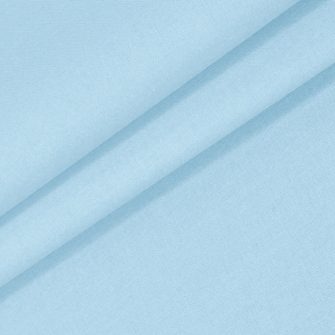 Бязь гладкокрашеная 120гр/м2 220 см на отрез цвет цвет небесно-голубой