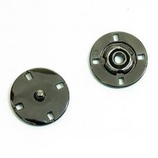 Кнопка металлическая черный никель  КМД-3 №21 уп 10 шт