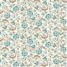 Ткань на отрез рогожка 150 см 3036-1 Китайские цветы