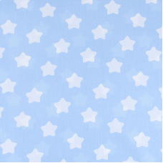 Мерный лоскут бязь плательная 150 см 1737/3 цвет голубой 3,5 м