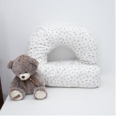 Наволочка поплин на подушку для беременных U-образная 2027