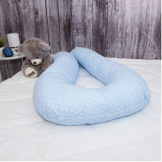 Наволочка бязь на подушку для беременных U-образная 1746/3 цвет голубой