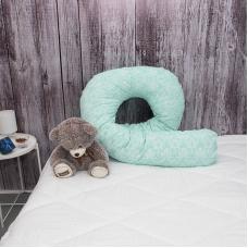 Наволочка бязь на подушку для беременных U-образная 402/16 Дамаск цвет мята