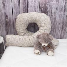 Наволочка бязь на подушку для беременных U-образная 402/18 Дамаск цвет кофе