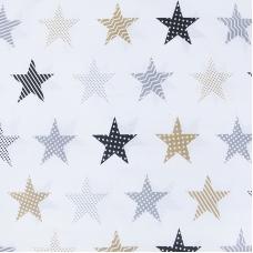 Бязь плательная 150 см 8104/2 Звезды пэчворк цвет бежевый
