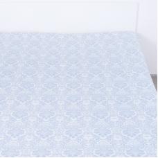 Простыня поплин 391А/3 Дамаск цвет голубой 1.5 сп