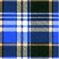 Ткань на отрез бязь плательная 150 см 186/1П Клетка цвет синий