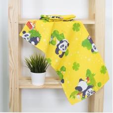 Набор вафельных полотенец 3 шт 35/75 см 375/3 Панда цвет желтый