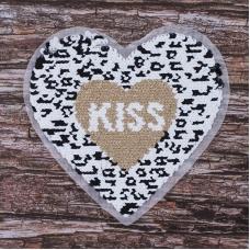 Аппликация Сердце Kiss 20*20,5 см