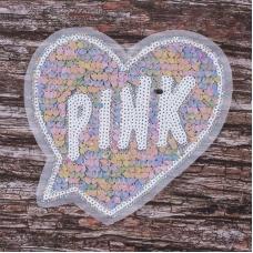 Аппликация Сердце Pink 20*19 см