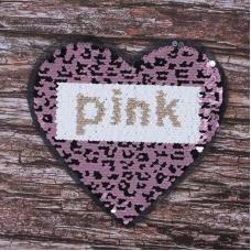 Аппликация Сердце Pink 22*20,5 см