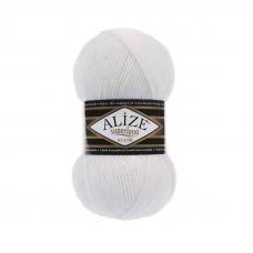 Пряжа ALIZE SUPERLANA KLASIK 55-белый (25% шерсть 75% акрил)