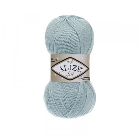 Пряжа ALIZE SAL SIM 114-мята (5% металлик 95% акрил)