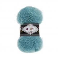 Пряжа ALIZE MOHAIR CLASSIK 164-лазурный (24% шерсть 25% акрил 51% акрил)