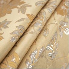 Портьерная ткань с люрексом 150 см на отрез H627 цвет золото