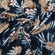 Ткань на отрез кулирка YT3106-2 Кокосовый рай 2