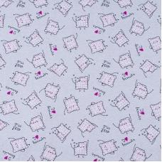Ткань на отрез кулирка R5102-V1 Клубничное печенье