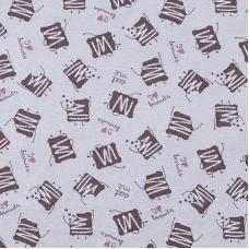 Ткань на отрез кулирка R5102-V3 Шоколадное печенье