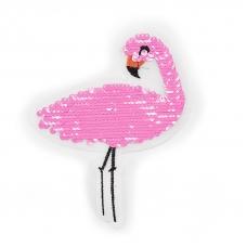 Аппликация Фламинго трансформер 15*12см