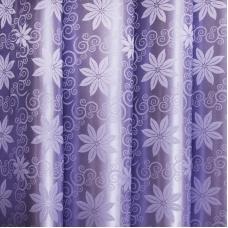 Портьерная ткань 150 см на отрез 19 цвет сирень цветы