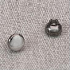 Пуговица металл ПМ65 9мм черный никель глянец уп 12 шт