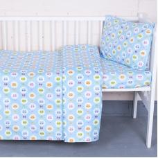 Постельное белье в детскую кроватку 92222 бязь ГОСТ с простыней на резинке