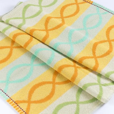 Полотенце махровое Sunvim 12В-27 Цветная косичка 50/90 см цвет зеленый