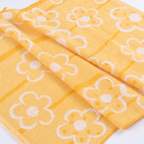 Полотенце махровое Sunvim 13В-9 Фантазия 50/90 см цвет желтый