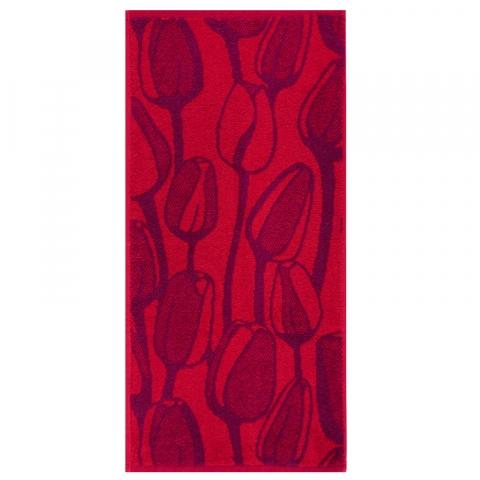 Полотенце махровое Море тюльпанов ПЛ-3602-03576 50/80 см цвет бордовый