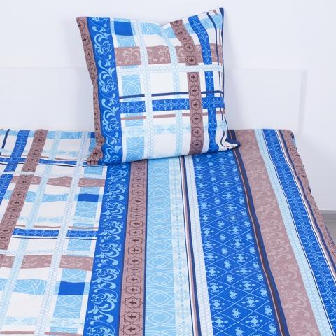Комплект простыня 1.5 сп + 1 нав. 70/70 бязь 301/2 Аккорд цвет синий