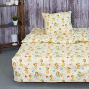 Детское постельное белье из поплина 1.5 сп 1644 Жирафики