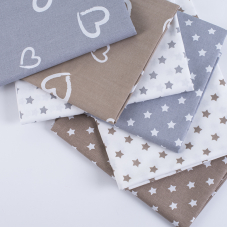 Набор отрезов ткани Поплин 50/50 +/- 5 см 6 шт 350