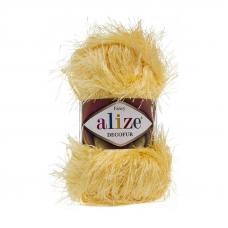Пряжа ALIZE DECOFUR 187-лимонный (100% полиэстер)