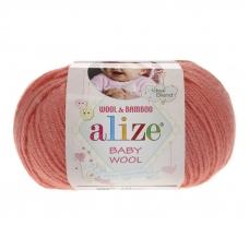 Пряжа ALIZE BABY WOOL 619-коралловый (40% шерсть 20% бамбук 40% акрил)