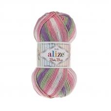 Пряжа ALIZE BABY BEST BATIK 7056 (10% бамбук 90% акрил)