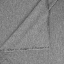 Ткань на отрез футер петля с лайкрой 19-12 цвет серый меланж 2