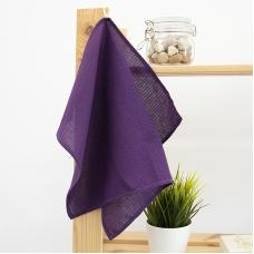 Полотенце вафельное 35/50 см цвет фиолетовый, петелька
