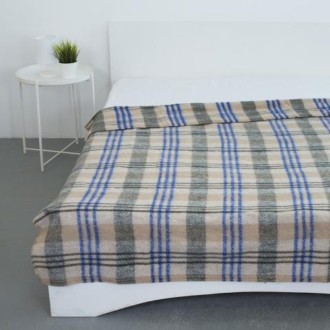 Одеяло полушерсть 420 гр/м2 цвет синий 190/200 см