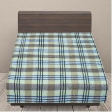 Одеяло п/ш (полушерсть) детское 420 гр/м2 полоса цвет василек вид 1 100/140 см