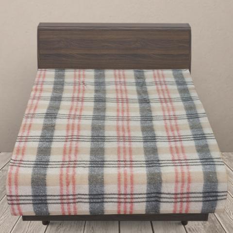 Одеяло п/ш (полушерсть) детское 420 гр/м2 полоса цвет красный 100/140 см
