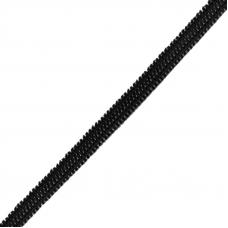 Резинка плоская вязаная 4 мм 50 м черная 1 метр