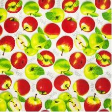 Вафельное полотно набивное 150 см 429/1 Яблоки