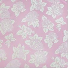 Ткань на отрез тик 220 см 85 +/- 5 гр/м2 Розы цвет розовый