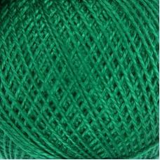 Нитки для вязания Ирис 100% хлопок 25 гр 150 м цвет 4110 зеленый