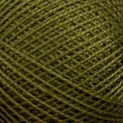 Нитки для вязания Ирис 100% хлопок 25 гр 150 м цвет 4510 темный хаки